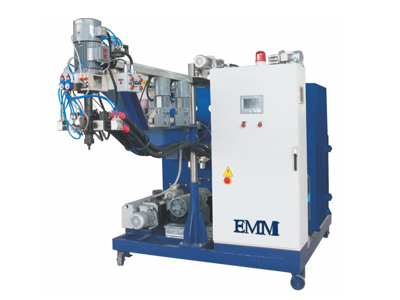 Poliüretan tekerlekler için EMM106 pu elastomer döküm makinesi