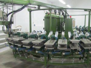 pu ayakkabı üretim hattı